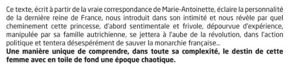 Marie-Antoinette, au Lucernaire, printemps 2017 Sans_t10