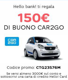 HELLO BANK regala BUONO CAR2GO € 150 [scaduta il 30/06/2017] Cattur11