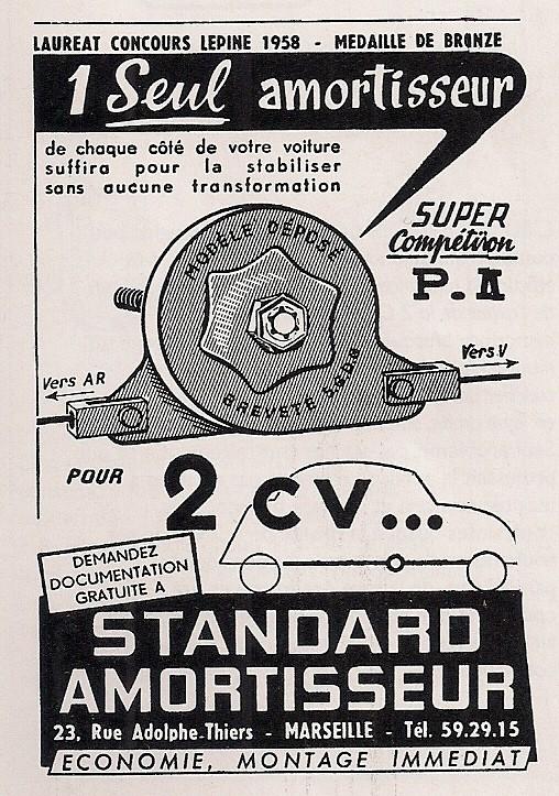 Les accessoires d'époque pour CITROËN 2CV côté suspensions 00048