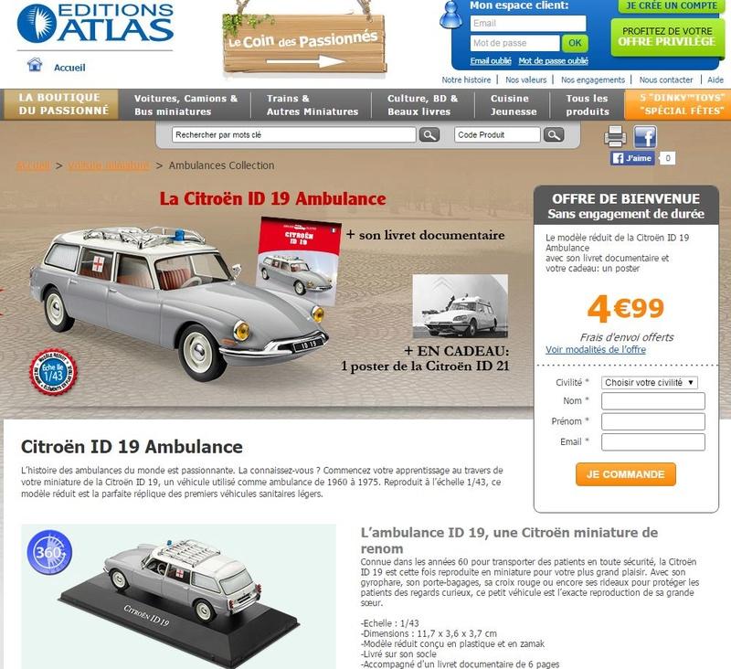 """Collection """"AMBULANCES"""" chez ATLAS 0290"""