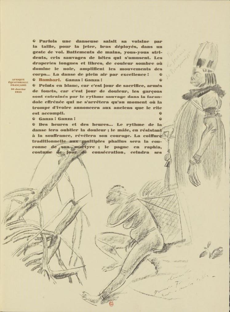 en parallèle de la Croisière Noire...des dessins 1830