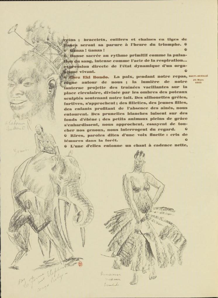 en parallèle de la Croisière Noire...des dessins 1928