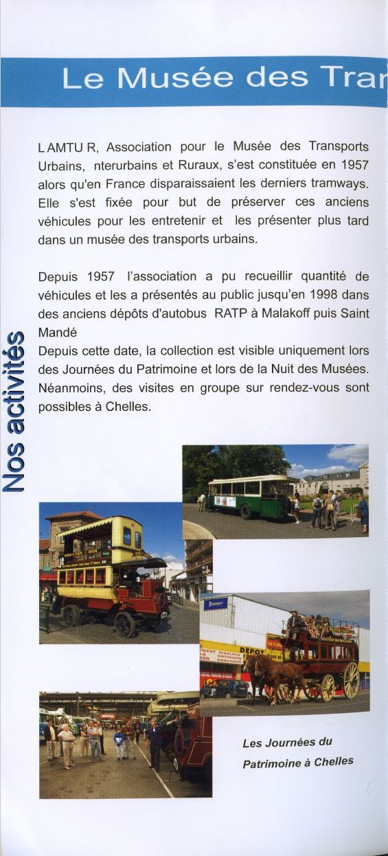 MUSEE Collection Transports en commun - AMTUIR (77 - CHELLES) 6125