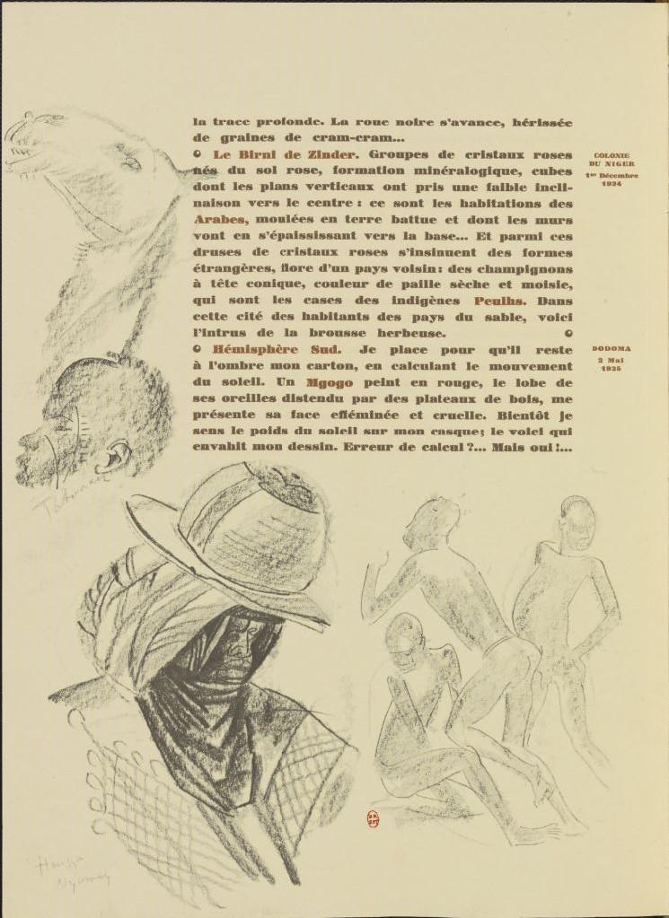 en parallèle de la Croisière Noire...des dessins 7109