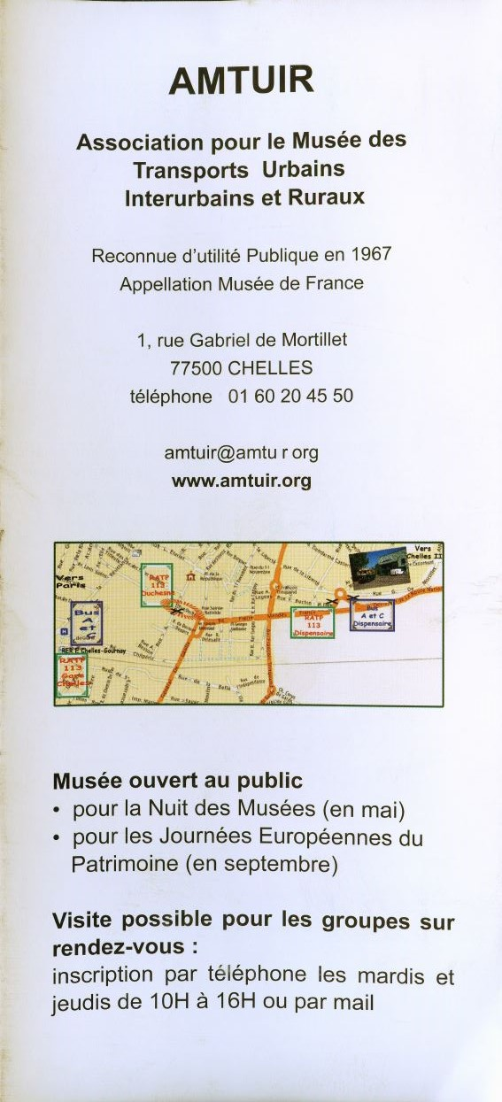 MUSEE Collection Transports en commun - AMTUIR (77 - CHELLES) 876