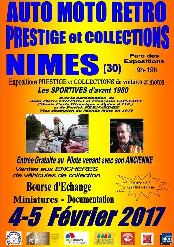 Salon Auto Moto Prestige à Nîmes les 4 et 5 Février 2017 Affich11