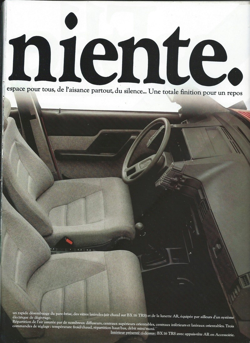 les YOUNGTIMERS (Citroën récentes: AX, BX , CX , XM....) Bx_19821