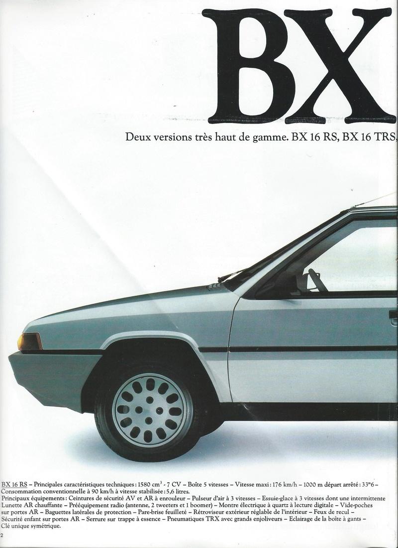 les YOUNGTIMERS (Citroën récentes: AX, BX , CX , XM....) Bx_19831