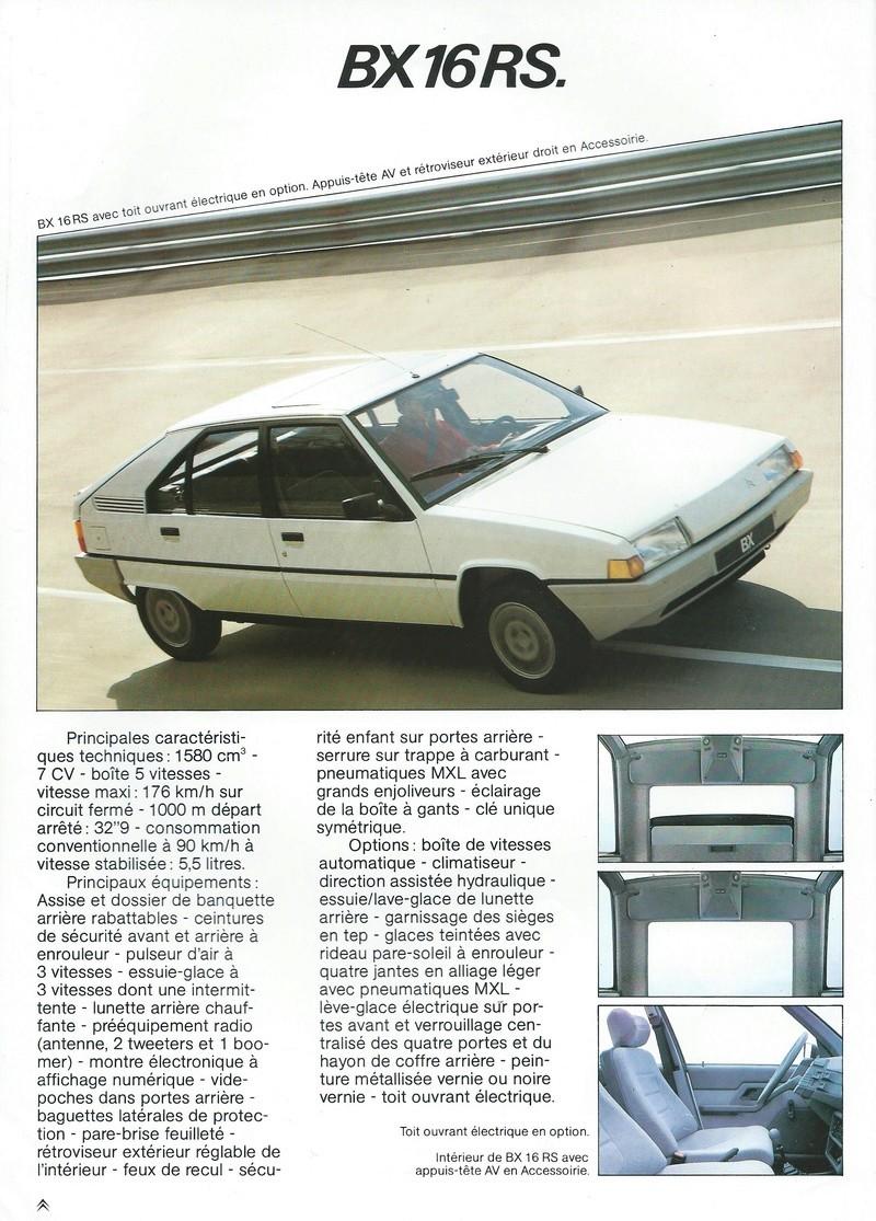 les YOUNGTIMERS (Citroën récentes: AX, BX , CX , XM....) Bx_19851