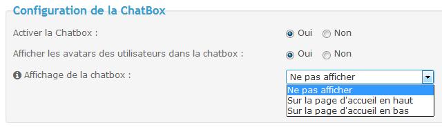 Installation de la ChatBox Tuto114