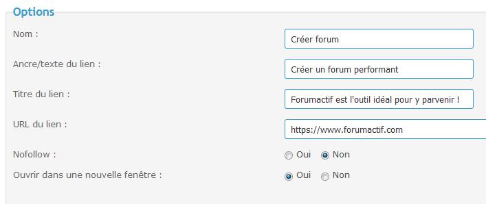 Personnalisation des liens de bas de page du forum Tuto217