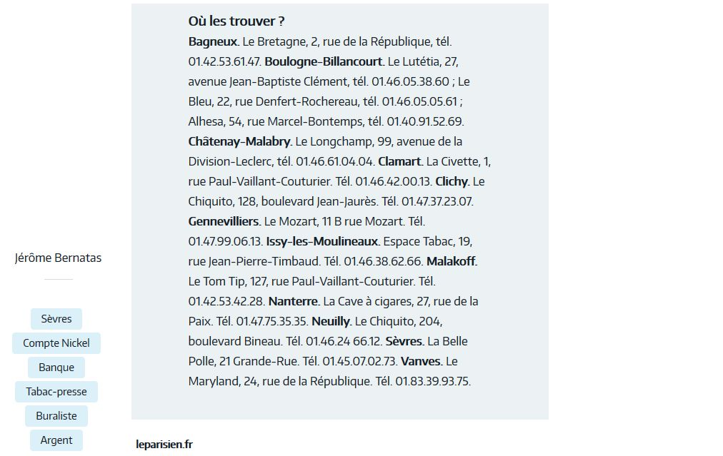 Tabac - Presse - Librairie Clipb136