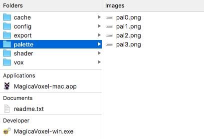 Voxeling (1): The Filesystem Palett10