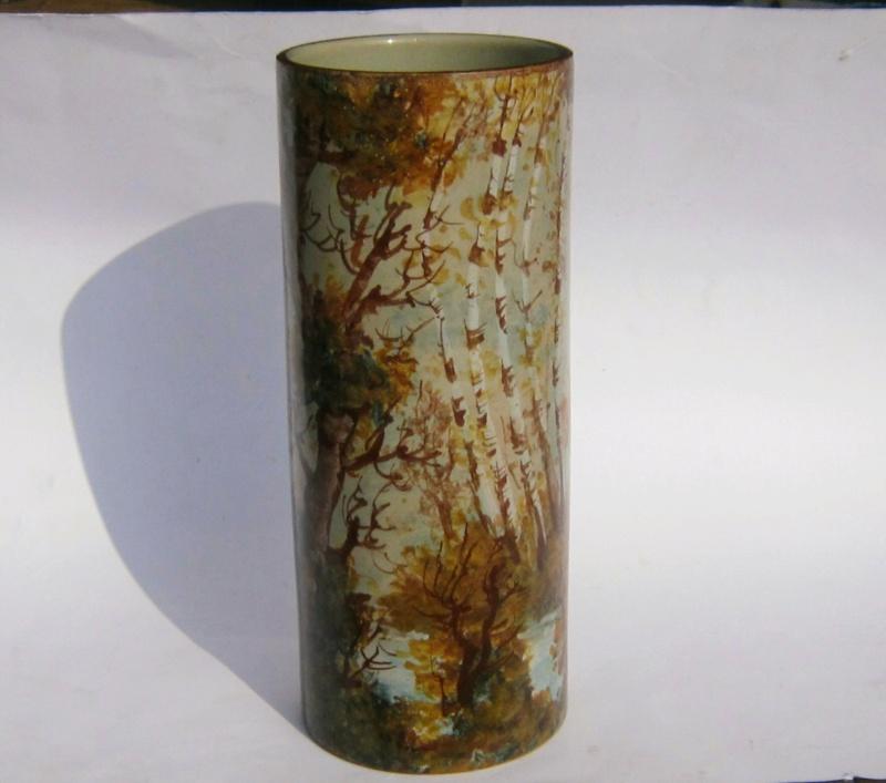 Painted woodland cylinder vase - Carlo Morelli  Img_1810