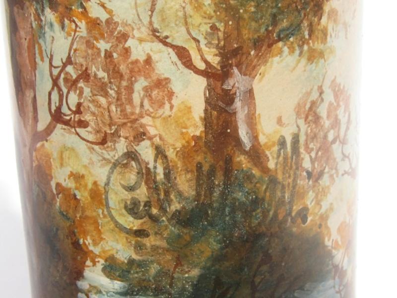 Painted woodland cylinder vase - Carlo Morelli  Img_1813