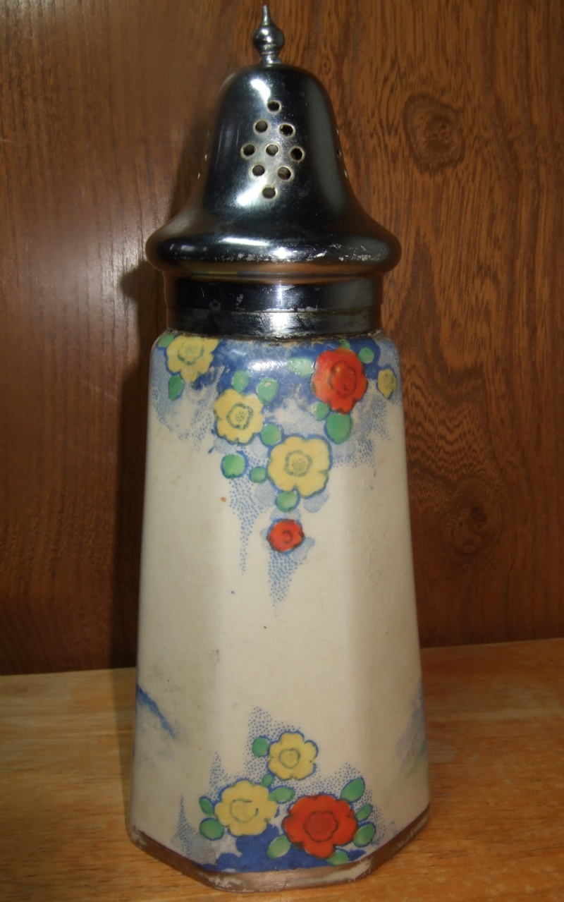 Mystery hand painted sugar sifter -staff? Ss311