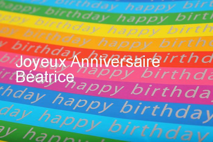 Bon anniversaire à Béa. Carte-10