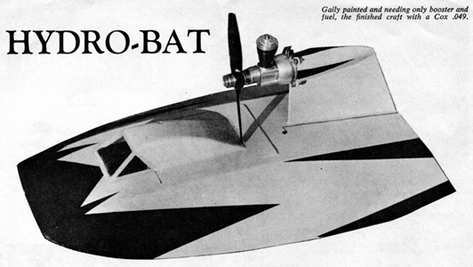 Hydro-bat by Vic Smeed: engine probs Hydro-10