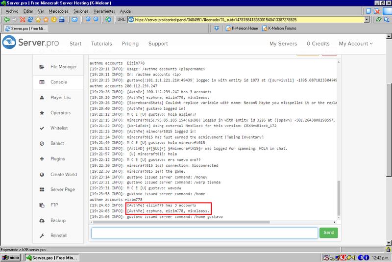 Hackan Usuario Que Es Mio..! Consol10
