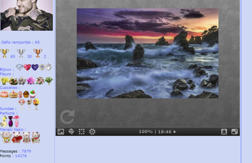 Puzzle #0472 / Splashing Waves in Rocky Ocean Mimo30