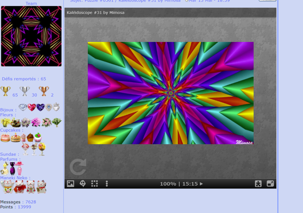 Puzzle #0361 / Kaléidoscope #31 by Mimosa Mon_am95