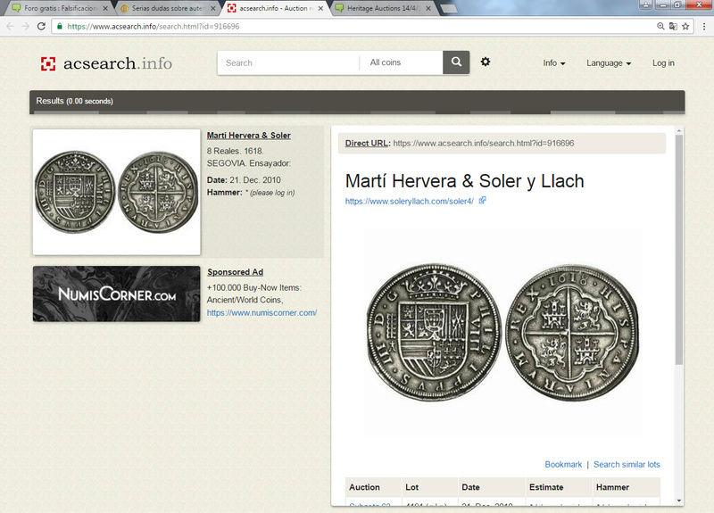 Martí Hervera 21/12/10,Heritage Auctions,14/4/15, Cayón 28/4/15 :8 reales 1618 Sin_ty14