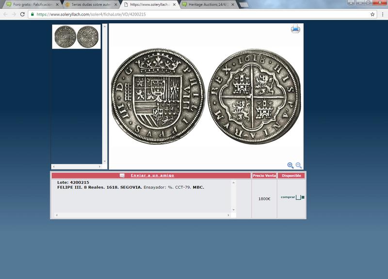 Martí Hervera 21/12/10,Heritage Auctions,14/4/15, Cayón 28/4/15 :8 reales 1618 Sin_ty19