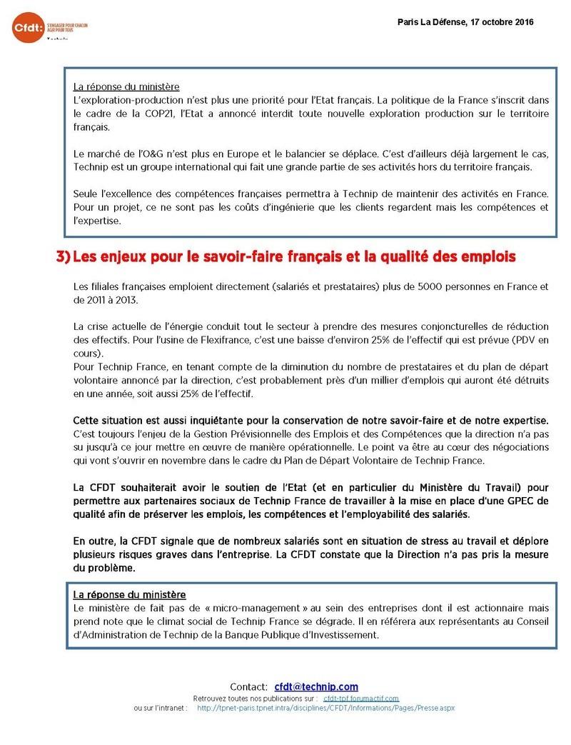 (2016-11-09) - COMPTE-RENDU DE LA RENCONTRE AVEC LE CABINET DU SECRETARIAT D'ETAT CHARGE DE L'INDUSTRIE Compte10