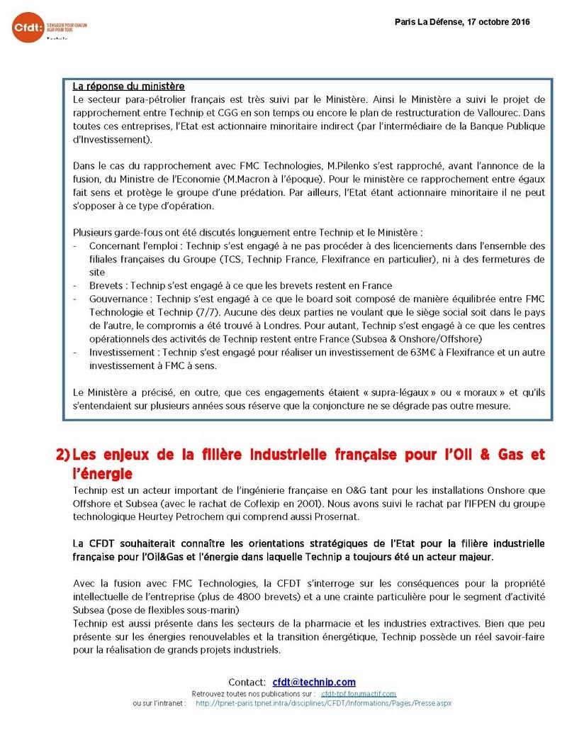 (2016-11-09) - COMPTE-RENDU DE LA RENCONTRE AVEC LE CABINET DU SECRETARIAT D'ETAT CHARGE DE L'INDUSTRIE Compte12