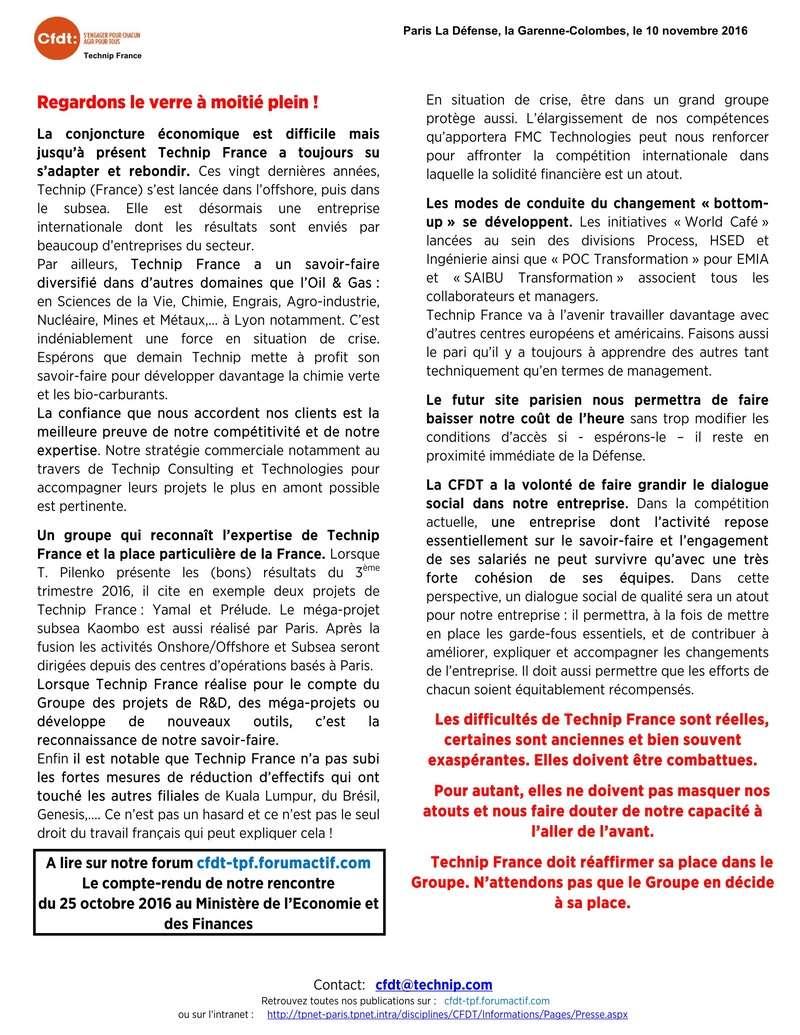 (2016-11-10) - TECHNIP FRANCE DOIT METTRE EN AVANT SES ATOUTS. C'EST NOTRE DÉFI.  Tract_11