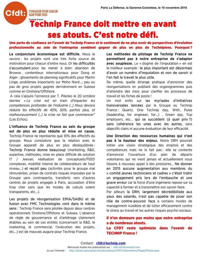 (2016-11-10) - TECHNIP FRANCE DOIT METTRE EN AVANT SES ATOUTS. C'EST NOTRE DÉFI.  Tract_12