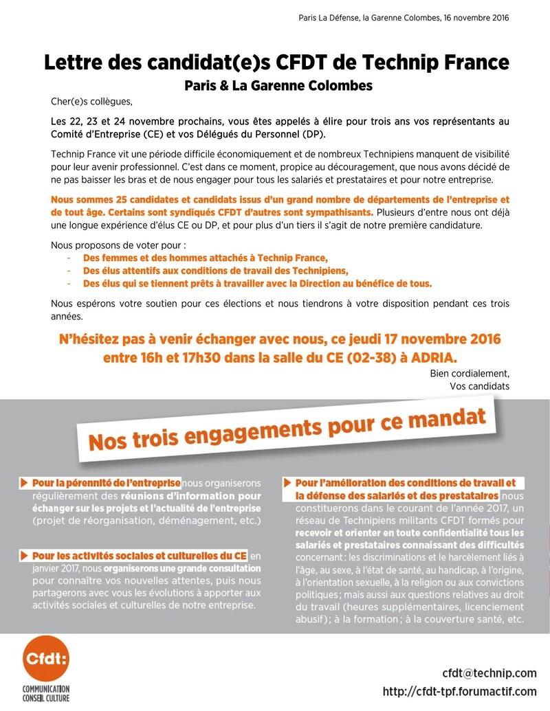 (2016-11-16) - LETTRE DES CANDIDAT(E)S CFDT DE TECHNIP FRANCE  Tract_13