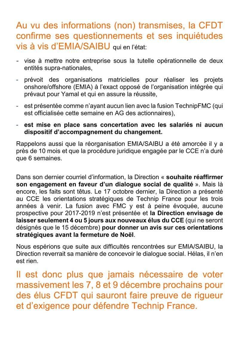(2016-12-06) - EMIA/SAIBU - UNE NOUVELLE ORGANISATION POUR COMBIEN DE TEMPS ?  Tract_16