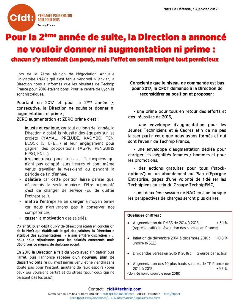 (2017-01-13) - POUR LA 2EME ANNEE DE SUITE, LA DIRECTION A ANNONCE NE VOULOIR DONNER NI AUGMENTATION NI PRIME :  CHACUN S'Y ATTENDAIT (UN PEU), MAIS L'EFFET EN SERAIT MALGRE TOUT PERNICIEUX Tract_19