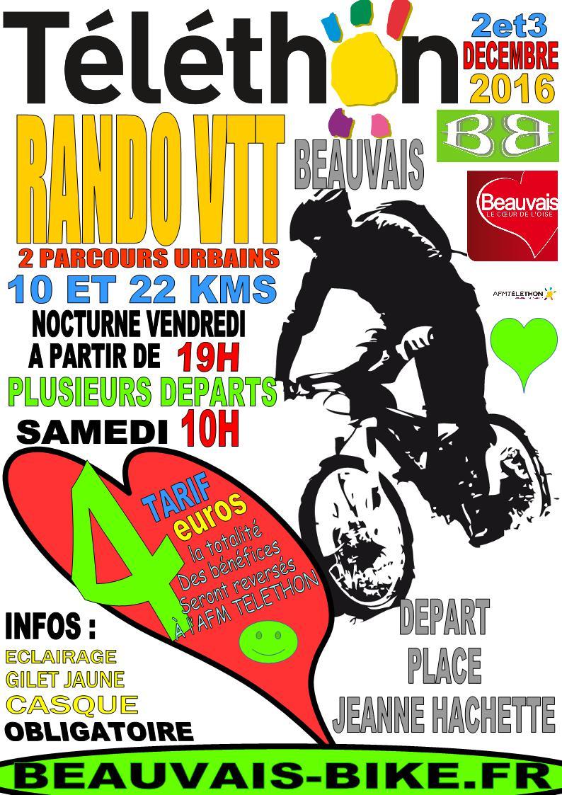 Telethon Beauvais Bike 2 et 3 decembre Affich10