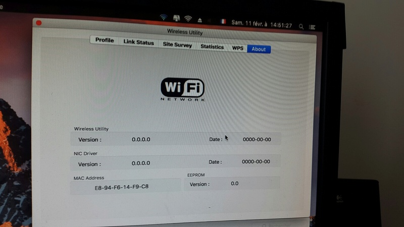 WIFI Network macOS Sierra Clover 20170214