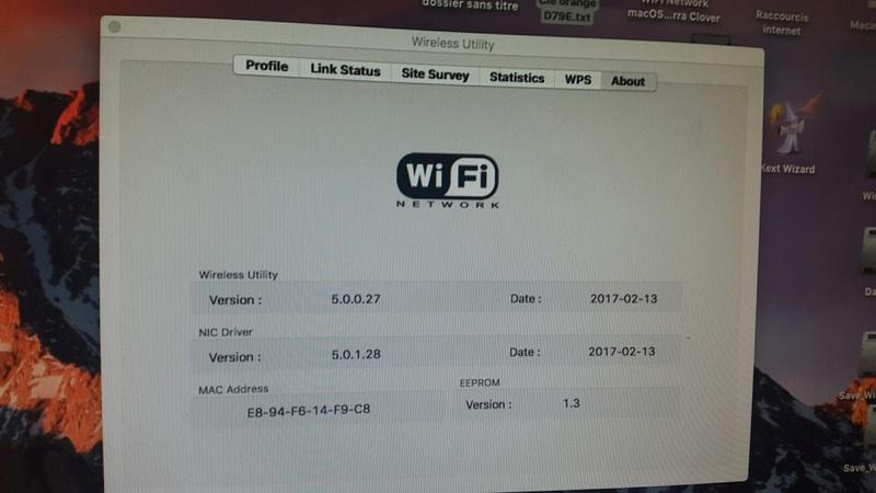 WIFI Network macOS Sierra Clover 20170218