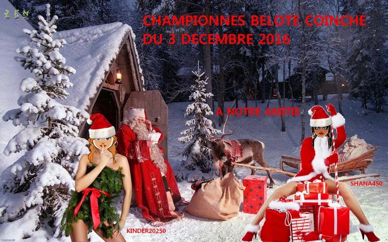 Championnes du tournoi belote coinche du 3 decembre Shana450 et Kinder20250 Person10