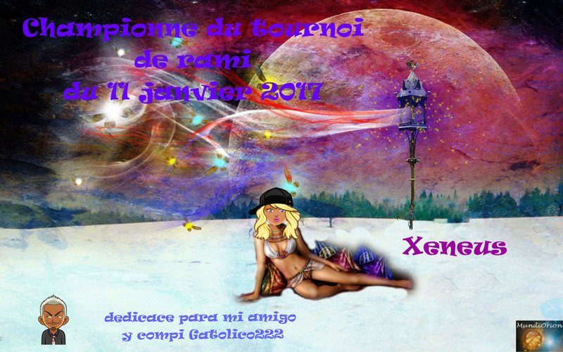 Xeneus première tournoi rami du 11 janvier 2017  Xeneux10