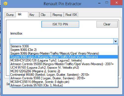 Renault PIN Extractor II  _1210