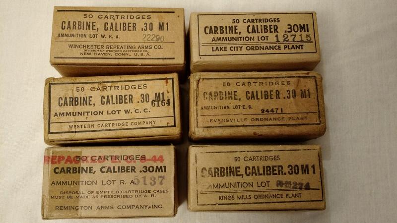 SIX FABRICANTS DES CARTOUCHES 30 M1 SUR SEPT  6_boit11