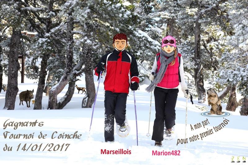 Marseillois et Marion482 gagnants tournoi coinche du 14/01/2017 Trophy22