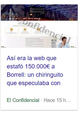 Josep Borrell estafado Captur22