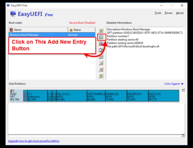 TUTO  EasyUEFI   ( BootClover invisible après install dualboot ) Easyue21