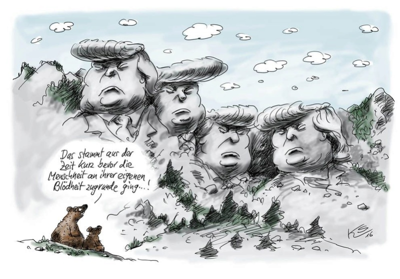 ANGELA, DONALD UND BARAK Trump10