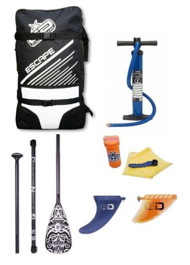 Pack Stand up paddle gonflable goldenboard 9'6  Golden11