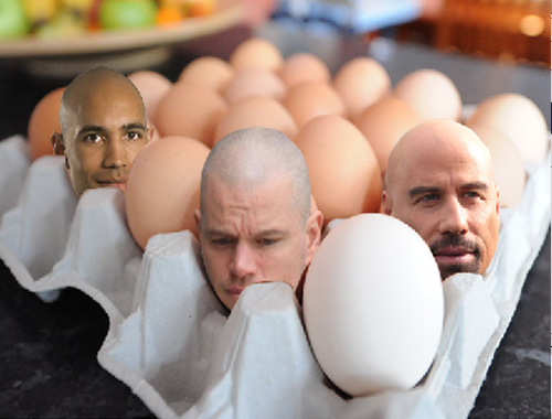 How to create big heads in an egg tray 410