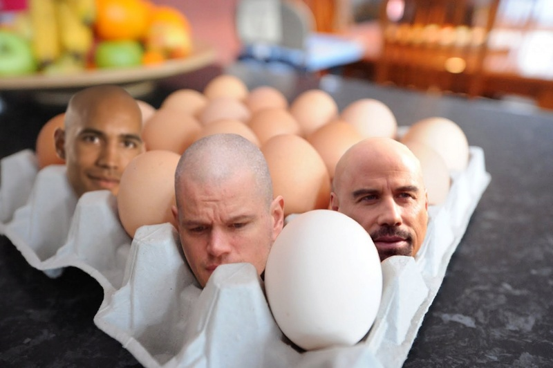 How to create big heads in an egg tray 610