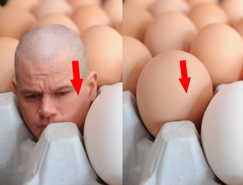 How to create big heads in an egg tray 710