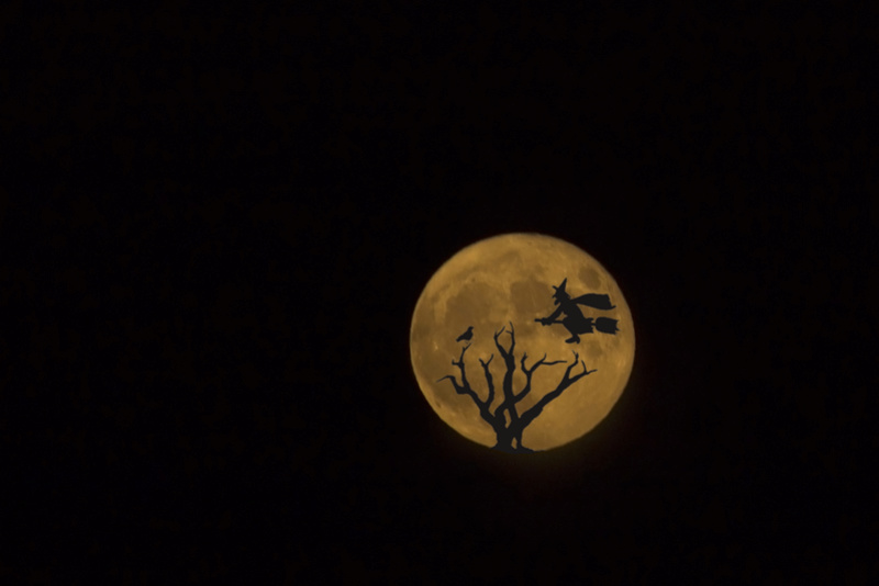 Having fun with the super moon :) Sorcie10